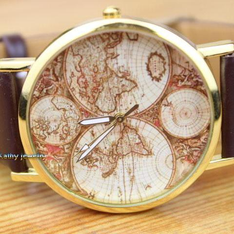 World Map Watches